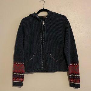 Vintage Woolrich Women's zip up hooded sweater